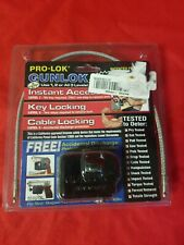 New Pro-Lok Instant Access Gunlock Cable Lock California Approved Home Safety