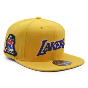 Los Angeles Lakers 1987 NBA Finals Mitchell & Ness Dynasty Fitted Hat - Yellow
