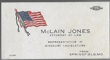 McLAIN JONES, ATTORNEY AT LAW & REP. IN MISSOURI LEGISLATURE, SPRINGFIELD, MO