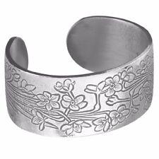 Salisbury Pewter December Flower Cuff Bracelet