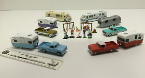 S Gauge 1:64 model Camping Vehicles Compatible with American Flyer Trains