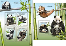 Pandas Panda Bears Bären Fauna Animals Sao Tome and Principe MNH stamp set