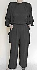 St John Knit 4- PC. SUIT Black PANTS sz 10 JACKET Med/Lg; Top sz. M; SKIRT sz. 4