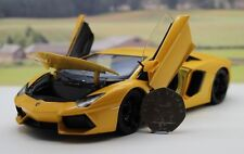 Yellow 1/24 LAMBORGHINI AVENTADOR 19cm Model Boys Toy Dad Christmas Present Box