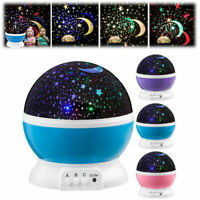 TOYS FOR 2-10 Year Old Kids LED Night Light Star Moon Constellation US Baby Gift