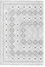022 Klöppeln Klöppelbrief Deckchen Decke mit Spinnen Torchon Brief ohne Rahmen