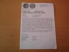 JOHN CALE Even Cowgirls get the Blues 1 page PRESS RELEASE (Velvet Underground)