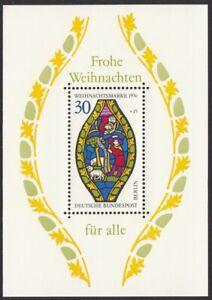 CHRISTMAS NATIVITY WINDOW = MNH SOUVENIR SHEET = GERMANY 1976