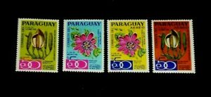 PARAGUAY, 1970, FLOWERS, REG. & AIRMAIL, SINGLES, SCARCE!, MNH, NICE! LQQK
