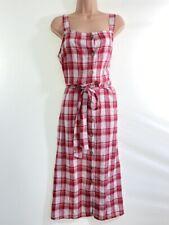 Neues AngebotBNWOT Next Creme & Rot Button durch Kariert Tartan Sommer rustikal Kleid Größe 14