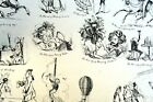 Old WAYS and NEW WAYS No 2 HENRY HEATH CARICATURE PRINT  1840 Victorian