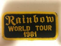 Richie Blackmore Rainbow 1981 World Tour Official Patch Blackmore's AUTHENTIC