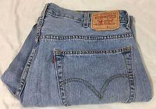 Levis 505 Jeans Denim Cotton Regular Classic Fit Light Wash 5 Pocket 40x29