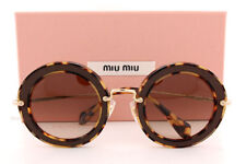 2e687ddc73f Brand New Miu Miu Sunglasses MU 08RS VIF3D0 Havana Grey Gradient  Brown  Women