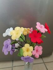 Handmade crochet 3D flowers