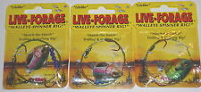 Northland Tackle Live Forage Crawler Spinner Rigs (Lot of 3-#4-Perch/Rainbow)