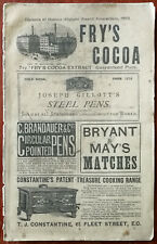More details for fry's cocoa, bryant & may, smith, elder & co. antique advertising booklet 1880's