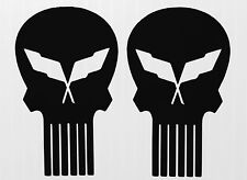 "2  C5 CORVETTE SKULL  Decals 2.5"" x 4.5"" High quality BUY 2 SETS GET 1 FREE"