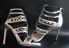 CARVELA GARLAND Metallic Caged Sandals Heel Shoes UK Size 8 EU 41