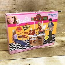 Barbie Pizza Hut Restaurant Playset NEW IN BOX Mattel 2001 RARE Oven Toppings