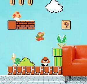 ★XXL!!! Wall Sticker Wandstick:Super Mario Cartoon Karikatur wandaufkleber ★