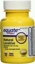 Equate Natural Vegetable Laxative Sennosides 8.6mg 100 Tablets