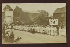 Warwicks Coventry Stoke?? Band of Hope Temperence 1906 RP PPC wedding procession