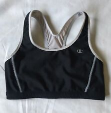 Sports Bra Size Small Champion Athletic Top Yoga Running Black Gray Reversible