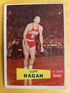 Cliff Hagan - 1957 Topps #37 VG HOF