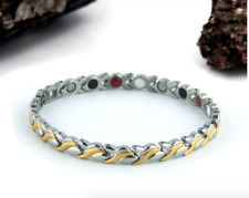 Authentic Pur life Negative Ion Bracelet ELEGANT Stainless & Gold take 35% off