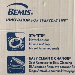 NEW BEMIS Lift-Off Never Loosens Elongated Toilet Seat in White Enameled Wood