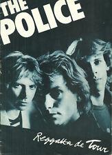 RARE / PROGRAMME CONCERT - THE POLICE STING LIVE A PARIS ( FRANCE ) 1979 PROGRAM