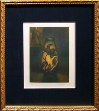 Laurent Schkolnyk Untitled framed Mezzotint Hand Signed & Numbered, vase L@@K!