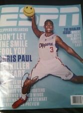 Chris Paul autographed ESPN magazine Clippers Wake Forest Signed No Label