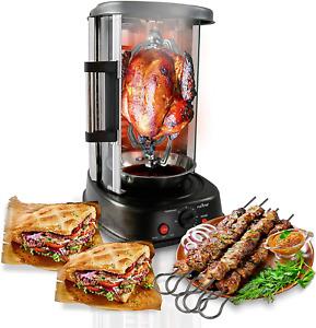 NutriChef Countertop Vertical Rotating Oven - Rotisserie Shawarma Machine, Kebob