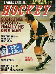 1973 APRIL Sports Special Hockey Magazine, Phil Esposito, Boston Bruins ~ VG