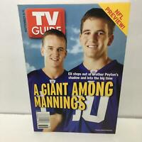 TV Guide Sept 5-11 2004 A Giant Among Mannings Peyton and Eli Cover No Label
