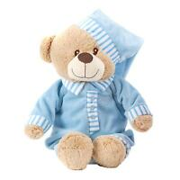 30cm weich kuschelig Teddybär NEU Baby Taufe Geschenk - blau Junge