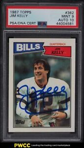 1987 Topps Football Jim Kelly ROOKIE RC PSA/DNA 10 AUTO #262 PSA 9 MINT