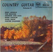 "PORTER WAGONER + 5 ""COUNTRY GUITAR VOL. 6"" COUNTRY ROCKABILLY EP 1959 RCA 141"