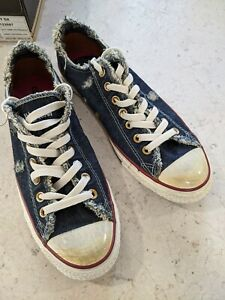 Converse Chuck Taylor All Star Ox 42 Nuove Navy Denim Distressed