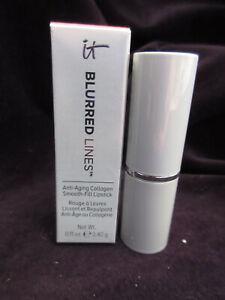IT Cosmetics Blurred Lines Anti-Aging Collagen Lipstick Je Ne Sais Quoi NIB MZ