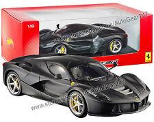 New Ferrari BLY53 LaFerrari Matt Black Hotwheels 1:18 Diecast Car Model