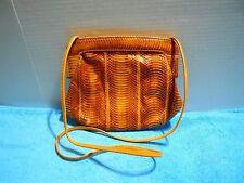 J. Renee Burnt Orange Snakeskin Purse Shoulder Bag