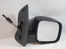 Peugeot Bipper 2008-2015 Cable Adjust Wing Door Mirror Black Cover Drivers Side