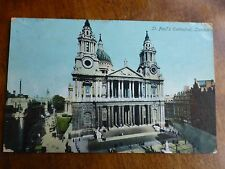 R135 St PAUL'S CATHEDRAL LONDON Postcard c1911