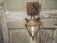 Vintage Brass Light Fixture Sconce Candle Lantern Antique Patina 17 18th century