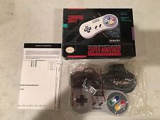 SNES SUPERPAD MINTY CONTROLLER with box SUPER NINTENDO ORIGINAL CONTROL NES HQ D