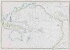 More details for 1863 large map the pacific ocean new zealand australia by edward weller (da70)