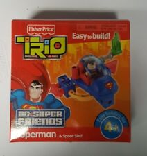 Fisher-Price TRIO Blocks T4448 DC Super Friends Superman & Space Sled